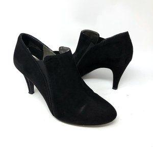 Nine West Celia Black Suede Shoe Bootie Heels Sz 7